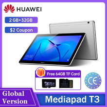 Huawei MediaPad T3 10 2 Гб оперативной памяти, 32 ГБ оперативной памяти/16 ГБ Rom AGS-W09/AGS-L09 планшетный ПК SnapDragon 425 Восьмиядерный 9,6 дюймов Android 7,0 1280*800