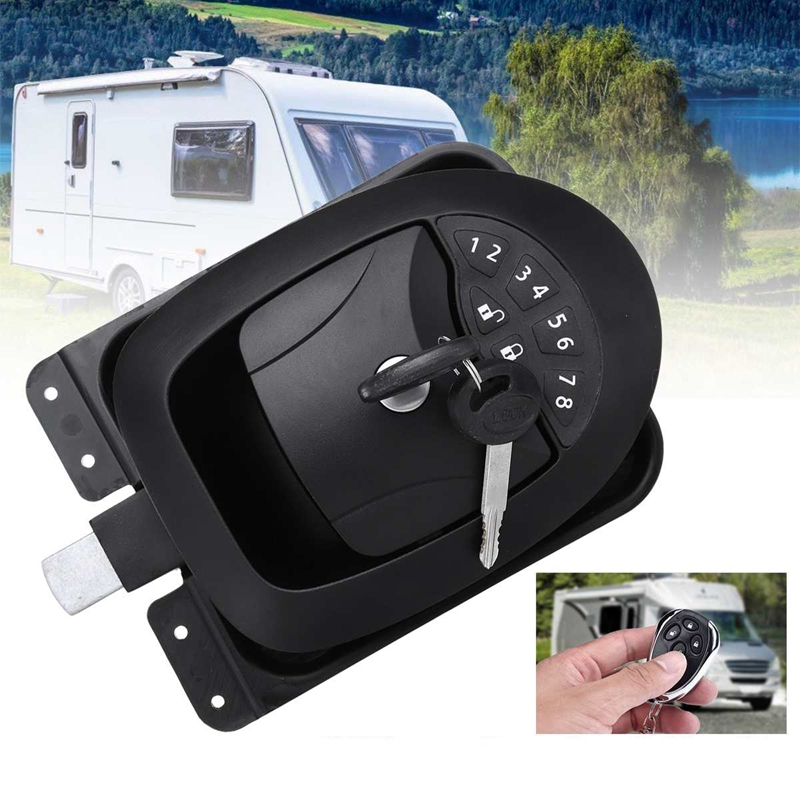 New Black Wireless Electric Rv Keyless Entry Door Lock-6