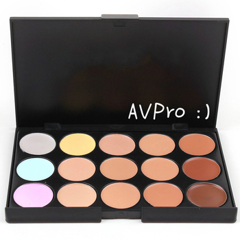 15 Colors Professional Concealer Palette Face Cream Highlighter Contour Facial Makeup Foundation Cosmetic Mini Concealer Palette