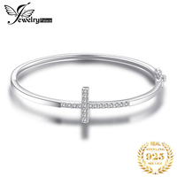 JewelryPalace Crown Cross Love bracelet CZ 925 Sterling Silver Bangles Bracelets For Women Silver 925 Jewelry Making Organizer