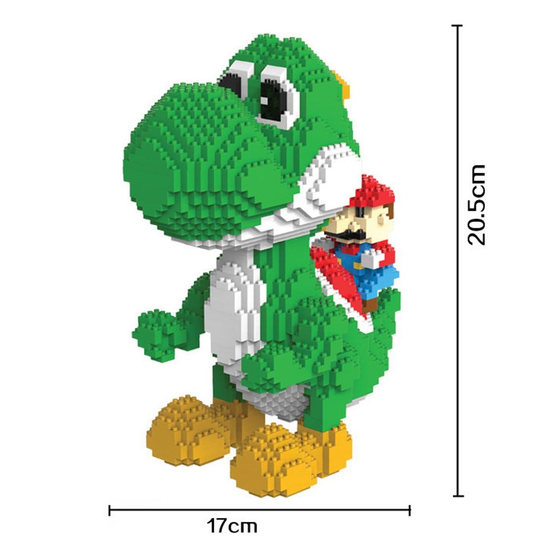 Galleria fotografica Hot lepining classic japan <font><b>Nintendos</b></font> gioco Yoshi Dinosauro Super Marios mini Micro Diamante Building Blocks figura giocattoli dei mattoni del regalo
