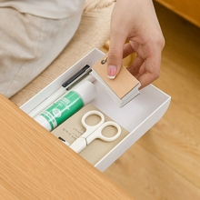 Self Stick Pencil Tray Under Desk Table Storage Drawer Type Organizer Box 94PF