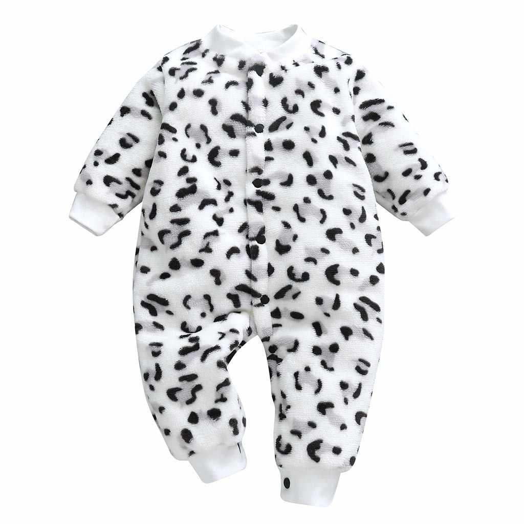 Telotuny 2020 Pasgeboren Baby Baby Meisjes Jongens Cartoon Luipaard Print Jumpsuit Romper Kleding Romper Baby Kleding Mode
