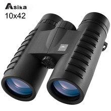 Asika 10x42 HD Binoculars Wide Angle Professional Binocular High Power Telescope Bak4 Prism Optics for Outdoor Camping Hunting