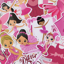 16pcs/lot Ballet Creative Sticker for Paper Album Notebook Adhesive Tape Car Luggage Diy Decoration Graffiti Stickers AT2879