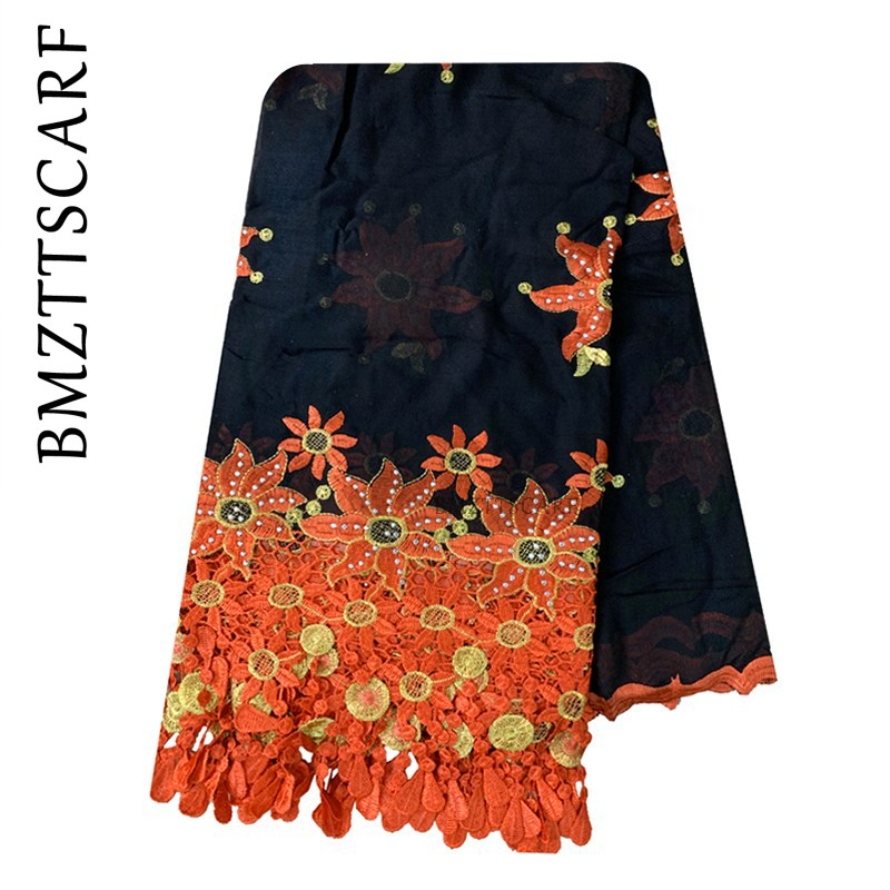 High Quality African Women Scarf Muslim New Scarf Type Big Yards Outside The Scarf Scarf Cotton BX105