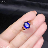 KJJEAXCMY boutique jewelry 925 sterling silver inlaid blue corundum gemstone female ring