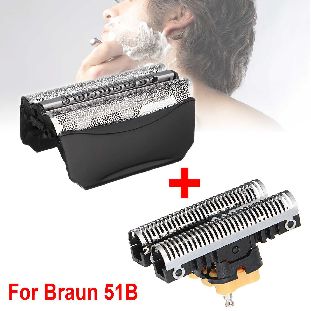 51B Replacement Shaver Foil Cutter Blade For Braun 51B Wfs1 Wfs2 530 550 590 8985 8995 8975 5646 5751 For ContourPro550