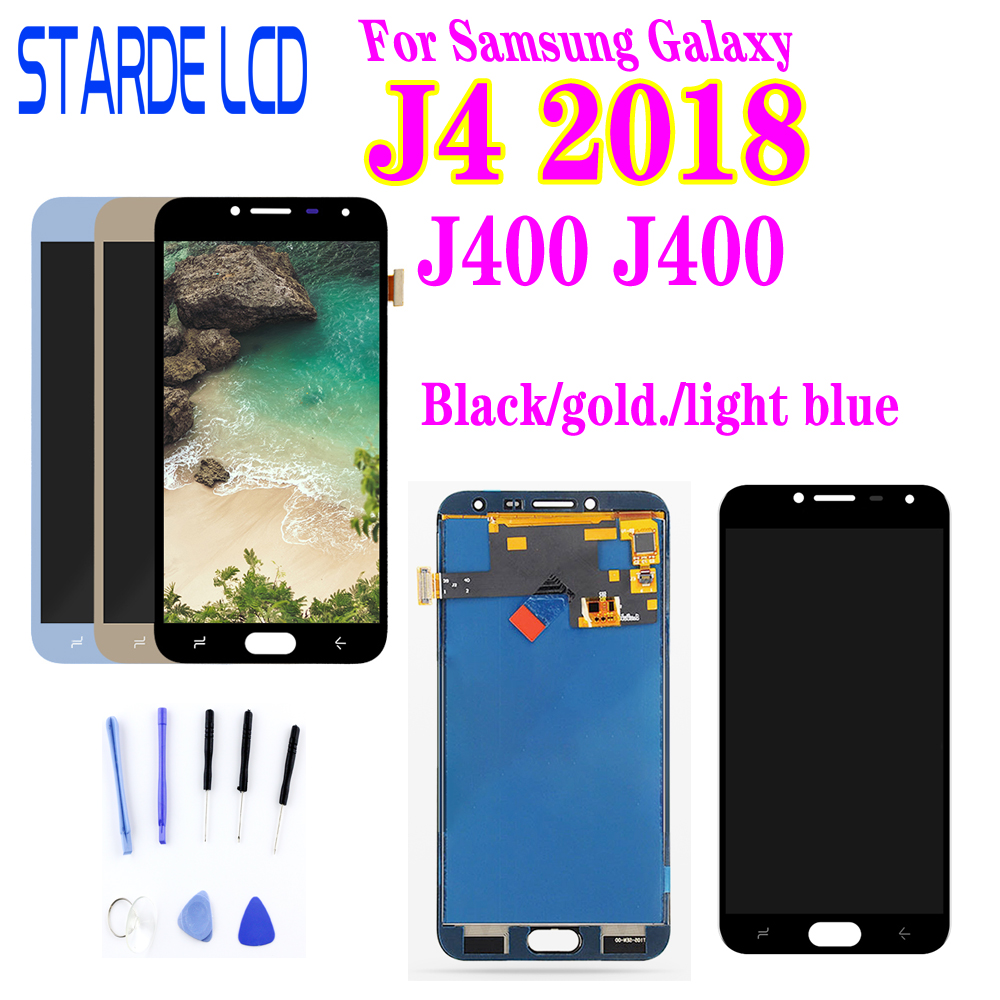 Voor SM-J400M/Ds Lcd Touch Digitizer Voor Samsung Galaxy J4 2018 J400 J400F Lcd Display J400F/Ds Display screen Vervanging title=