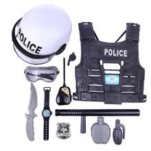 Pretend-Play-Toys Playing-Set Simulation-Policeman Kids Boys Children for 11pcs Popular