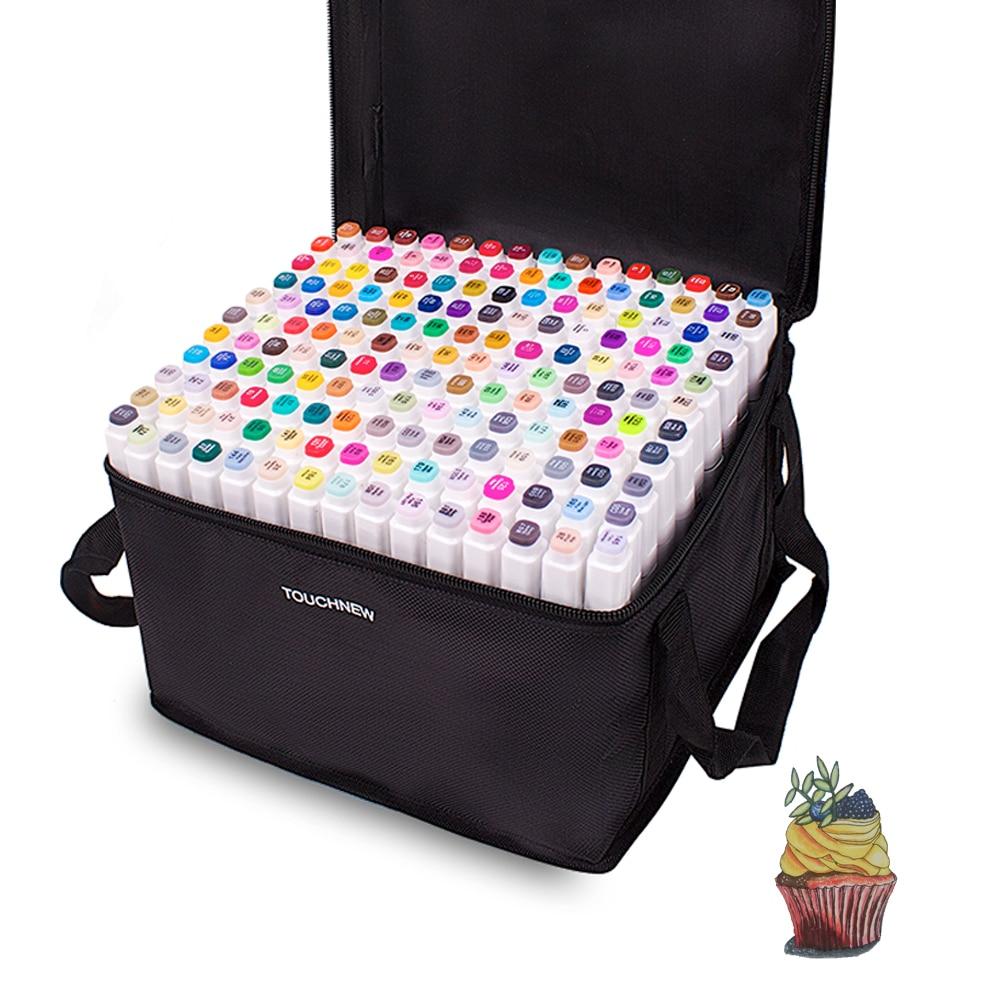 Маркеры для художников TouchFive, Промо-код  AEA420 Скидка 6 долларов США,48/80/168 цветов, скетч-маркеры с двумя наконечниками, спиртовые ручки для рисо...