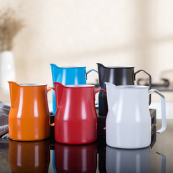 Dzbanek do spieniania mleka ze stali nierdzewnej kubek do spieniania mleka do Espresso  idealny do latte art w Dzbanki na mleko od Dom i ogród na