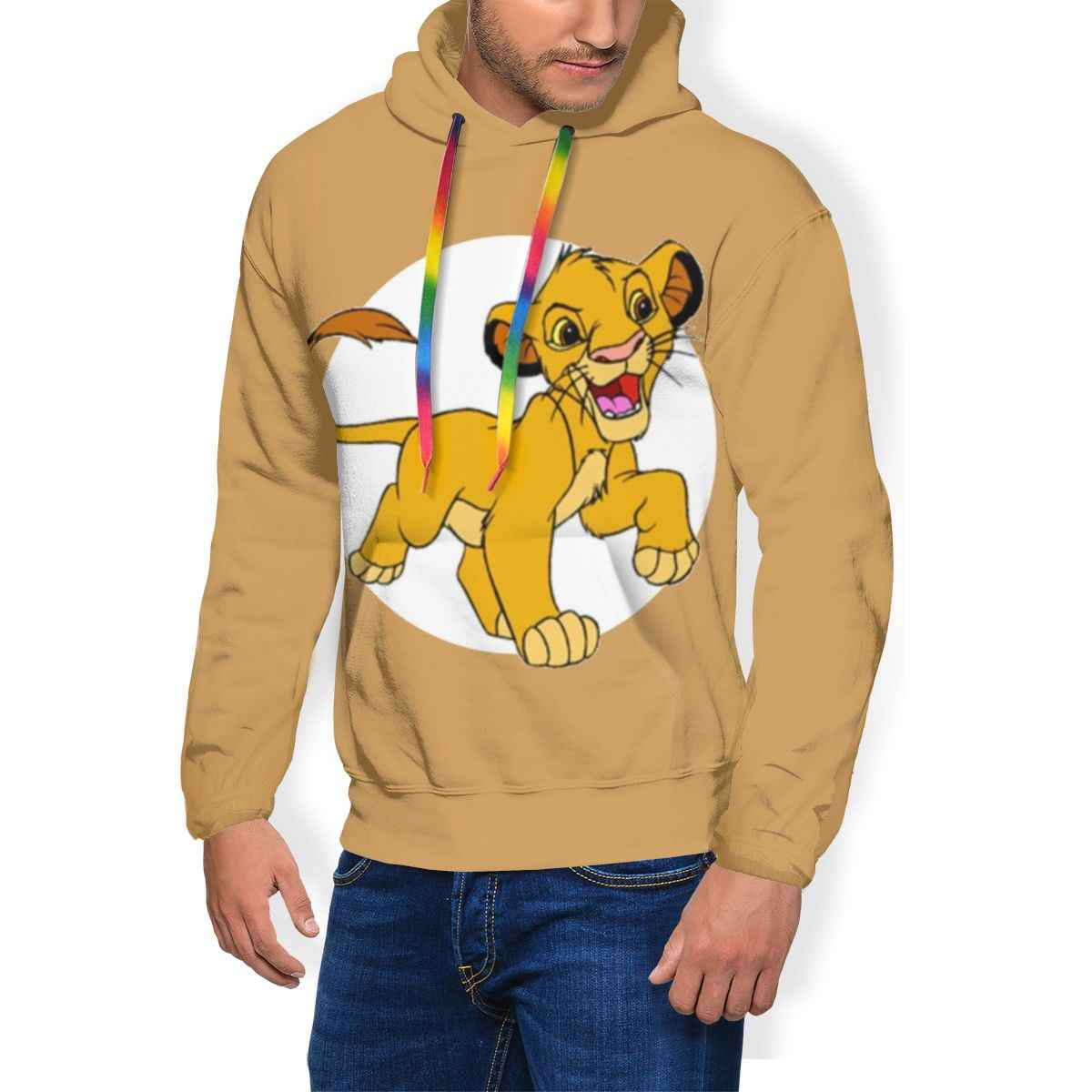 Король Лев Simba Толстовка Simba толстовки мужские синий пуловер худи полиэстер крутая осень XL толстовки с длинным рукавом