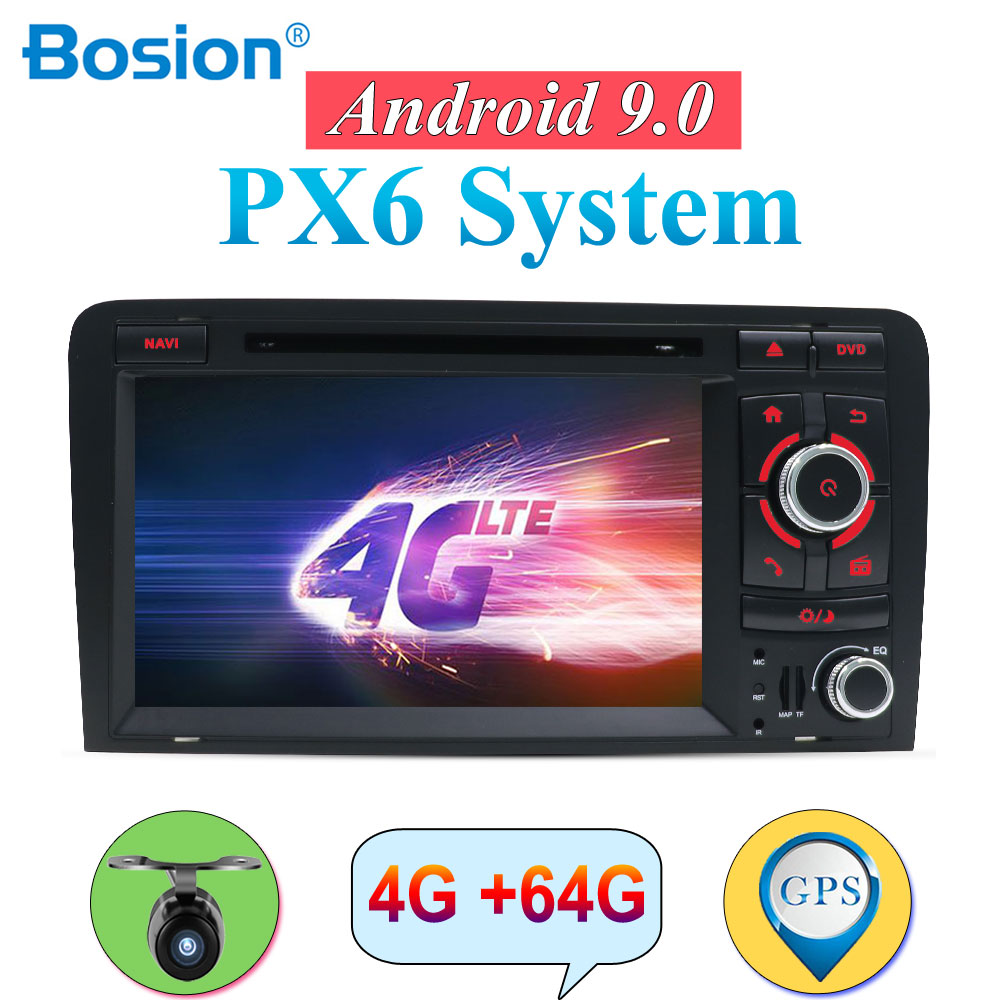 Autoradio Android 9.0 Für <font><b>Audi</b></font> <font><b>A3</b></font> <font><b>8P</b></font> S3 RS3 Fit 2003-2011 doppel 2 din auto dvd <font><b>radio</b></font> stereo audio 4G 64G HDMI Wifi Multimedia image