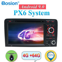Autoradio Android 9.0 For Audi A3 8P S3 RS3 Fit 2003-2011 double 2 din car dvd radio stereo audio 4G 64G HDMI Wifi Multimedia(China)