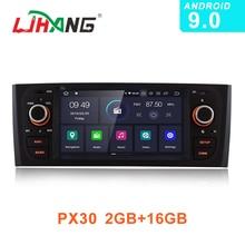 LJHANG 1 Din Android 9.0 Autoradio Voor Fiat Linea Grande Punto 2007-2012 GPS Navi WIFI Multimedia Speler geen DVD Autoaudio Stereo