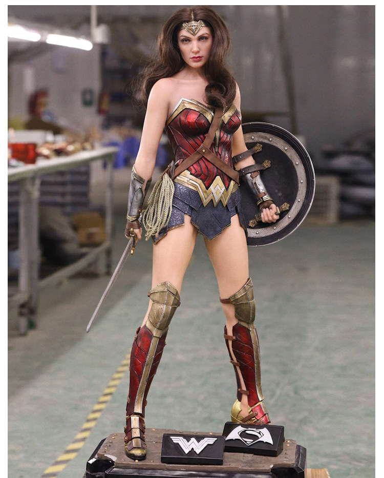 [Funny] Large size 102cm Wonder Woman Resin Action Figure Full body statue Collectible Model home decoration gift