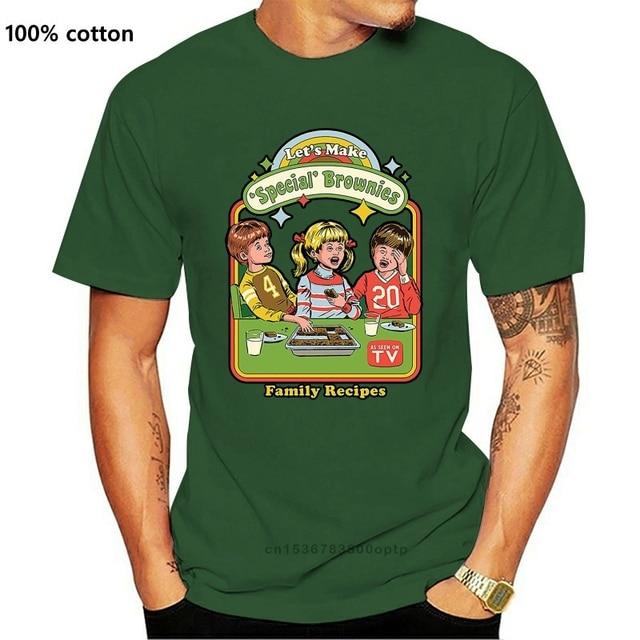 Permet de faire Brownies T shirt pot mauvaises herbes brownies cuisson 420 haute vie drôle parodie recettes nostalgie
