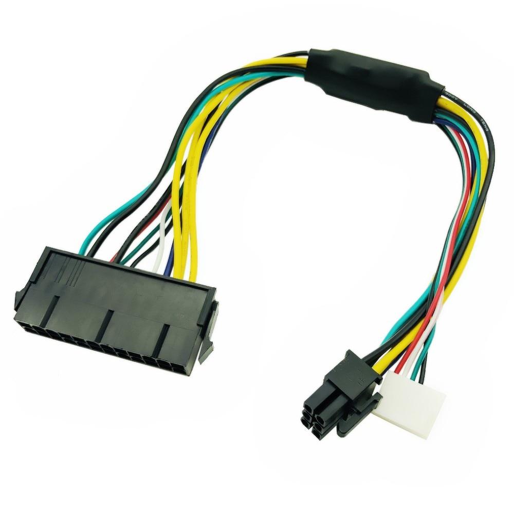 Блок питания ATX 24pin к материнской плате 2 портов 6pin адаптер PSU Питание кабель Шнур для hp Z220 Z230 с волокнно-Оптической вилкой Материнская плата С...