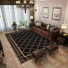 Middle retro style geometry 3D carpet bedroom living room crystal velvet Printed digital crawling mat Non-slip foyer home