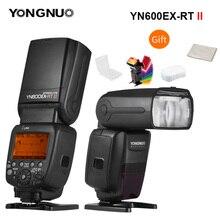 Yongnuo YN600EX RT ii 2.4g sem fio hss 1/8000s gn60 mestre flash speedlite para câmera canon como 600ex rt yn600ex rt ii speedlite