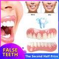 Силиконовые виниры для идеального смеха верхних/нижних искусственных зубов, зубные протезы, инструменты для гигиены полости рта, имитация ...