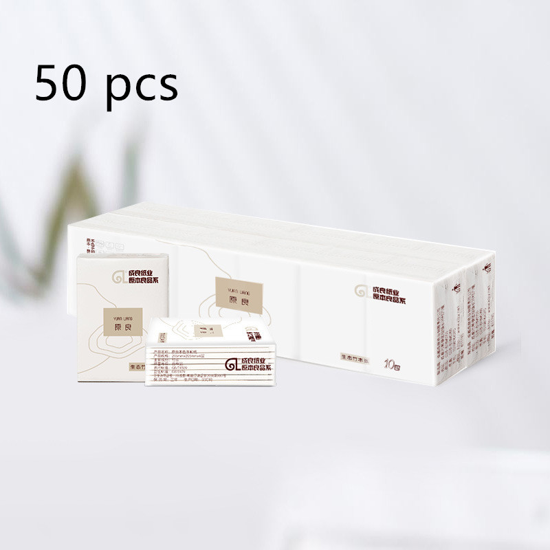 (50 Packs)  Soft Paper Napkin Wholesale Handkerchief Paper Towels Wholesale
