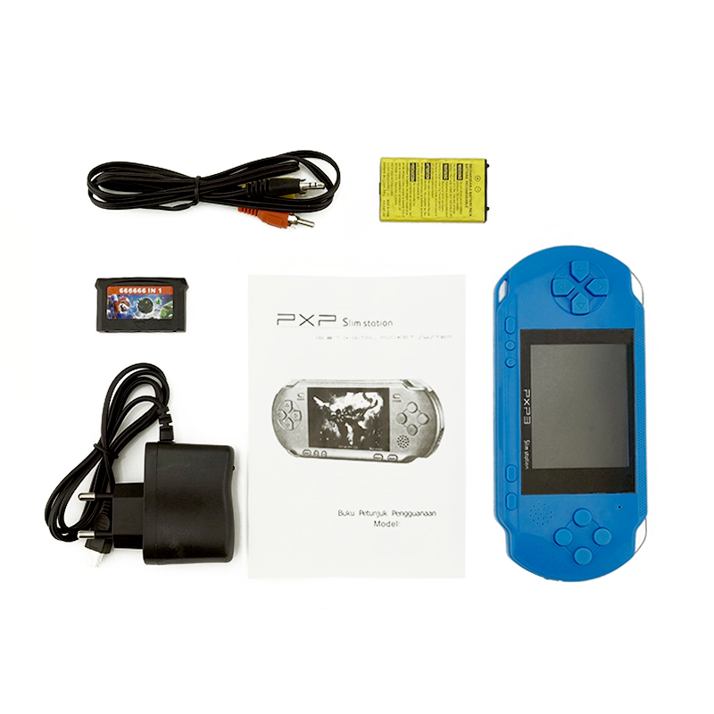 PXP3 16 Bit Build In 200+ Classic Games Portable Pocket Handheld Gaming System Console AV Output