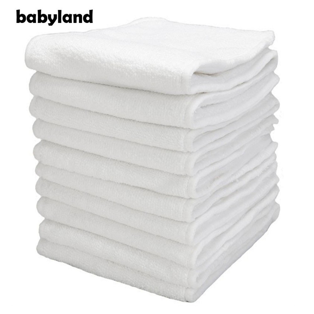 150pcs/lot Babyland Diaper Inserts Nappy Absorbents Microfiber Insert For Normal Pocket Diapers 3-Layers Microfiber Nappy Insert
