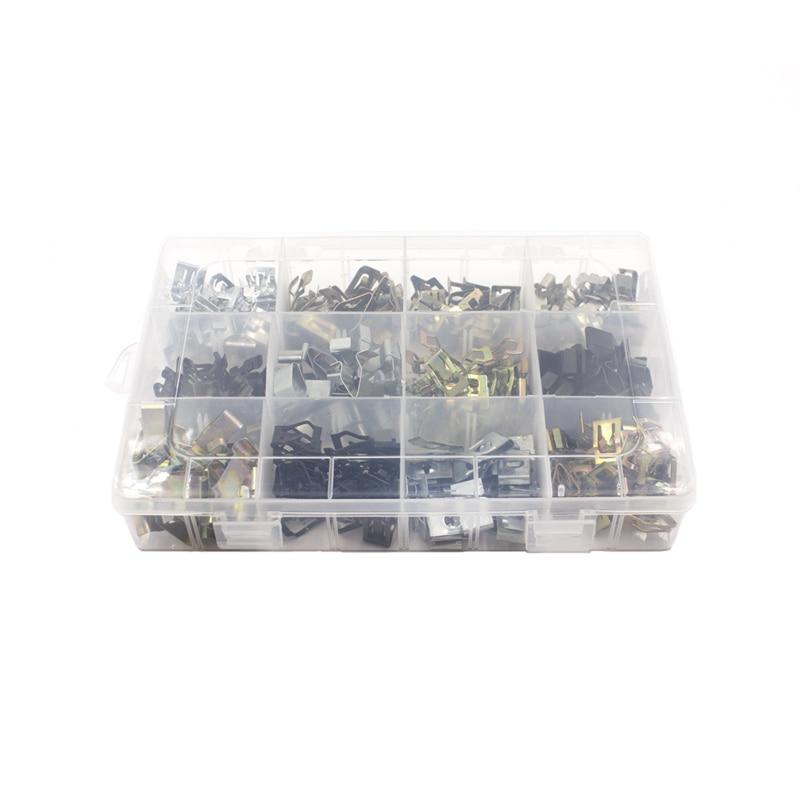 360 шт Универсальный смешанный автомобильный бампер крыло винт пластиковый крепеж зажим с коробкой набор для всех авто заклепок