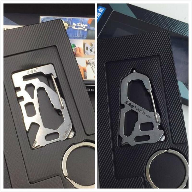 HIgh quaity keychain  multi tool stainless steel portable mini 2pcs/lot