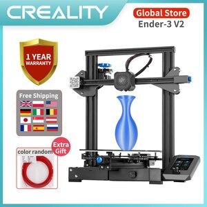 CREALITY 3D принтер DIY Kit Ender-3 V2 принтер новый пользовательский дисплей экран Resume печать