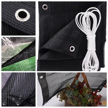 Bez zapachu 95 cieniowanie czarny parasol przeciwsłoneczny żagle wodoodporny parasol przeciwsłoneczny sieci rośliny ogrodowe osłona przeciwsłoneczna markizy ogrodowe żagle przeciwsłoneczne tanie i dobre opinie Tewango Odcień żagle obudowa nets Hdpe Niepowlekany NNW-90HSZYHM1-1 Sun Shade Sails Black 8~10 Years