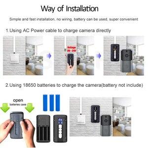 Image 4 - HISMAHO wizjer wbudowaną kamerą wi fi inteligentny wideo z domu domofon dzwonek do drzwi, bezprzewodowy pilot zdalnego dzwonek do drzwi baterii aparatu 720P HD Night Vision