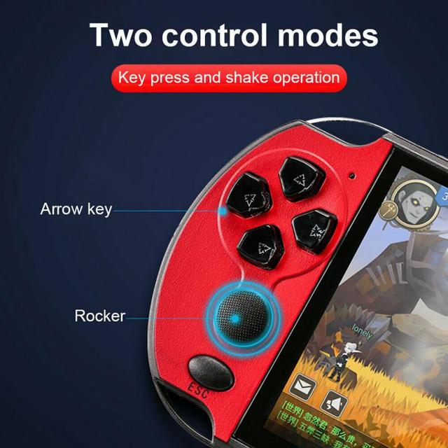 Game Console Player X7 Plus for Game Handheld Retro Game 5.1 inch Screen Handheld PSP Game Player Support Camera for Xmas Gift