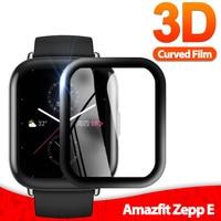 Película protectora de fibra suave 3D para Xiaomi Huami Amazfit ZEPP E, Protector de pantalla completo para reloj inteligente Amazfit ZEPP E