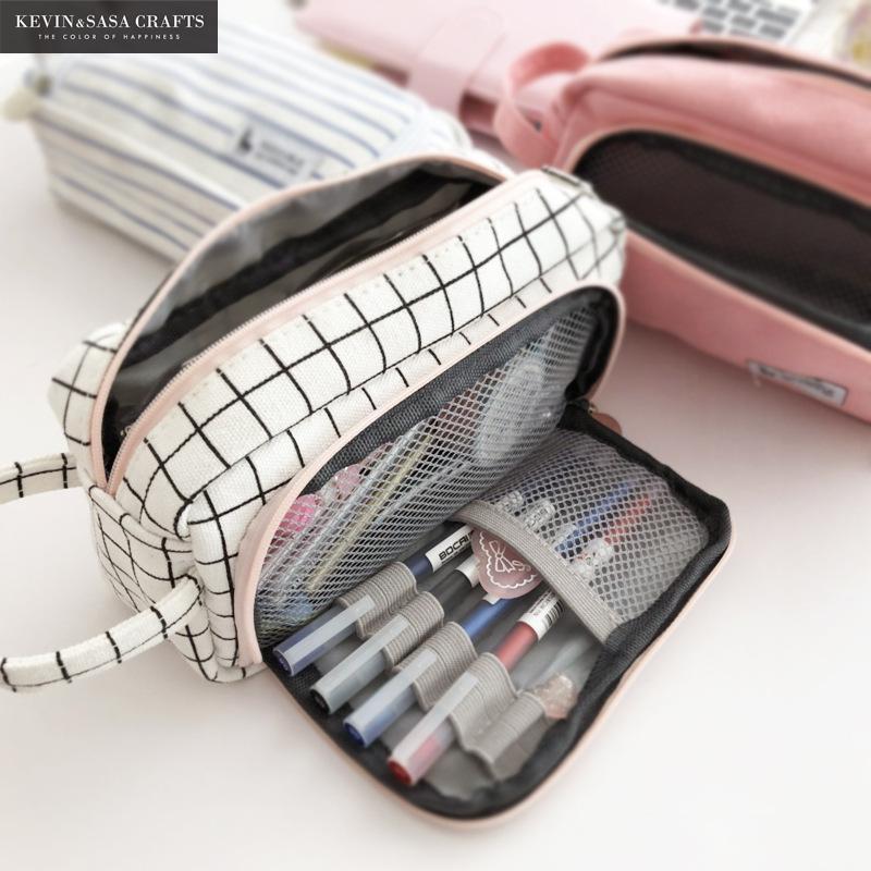 20 cores grande capacidade lápis caso kawaii caneta escolar suprimentos lápis saco de escola caixa de lápis bolsa de papelaria