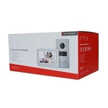 Paquete de KIT de intercomunicador de vídeo HIK IP, HD multilingüe, Panel RFID y monitor WiFi, timbre de puerta IP, impermeable