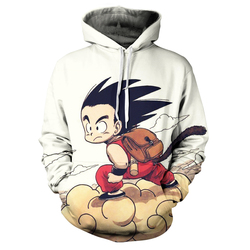 2020 autumn and winter men's youth children's jacket 3D animation cartoon comfortable personality hooded top