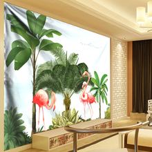Palm Tree Leaves Tapestry Psychedelic Wall Hanging Hippie Tapestries Banana Leaf Polyester Boho Home Decor Wall Cloth Carpets