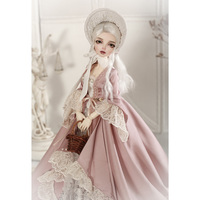 modiker 1/4 BJD Dolls Minifee Ren Female Makeup Dolls with Eyes and Full Clothing British Royal Retro Style