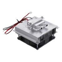 50W DC 12V 6A DIY Thermo elektrische Koeler Koelsysteem Halfgeleider Koeling Systeem Kit Heatsink Cooler voor 15L Water-in Air conditioner onderdelen van Huishoudelijk Apparatuur op