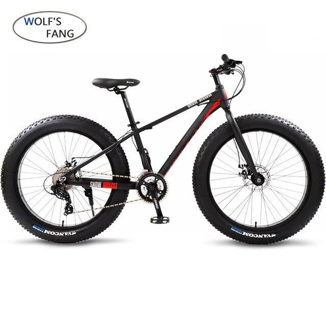 Wolfun fang bisiklet dağ bisikleti yağ bisiklet yol bisikletleri bisikletler tam alüminyum bisiklet 26 kar yağ lastiği 24 hız mtb disk frenler