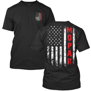 Mopar Us Flag T Shirt Men Two Sides Cotton Casual Tee Usa Size S 3Xl