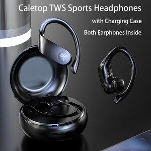 Image 2 - Caletop auriculares TWS, inalámbricos por Bluetooth, auriculares para correr, auriculares HiFi con sonido 8D, Emparejamiento automático, reducción de ruido inteligente