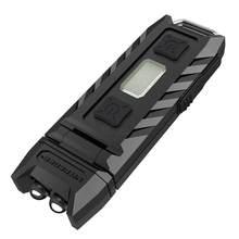 Nitecore polegar 85 lumens recarregável chaveiro lanterna com um canto de 90 graus, compacto e portátil