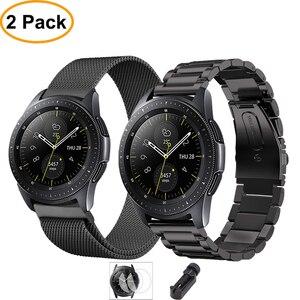 Пленка + инструмент + ремешок для часов для samsung galaxy watch active gear S3 Frontier 46 мм 42 мм ремешок 22 мм/20 мм ремешок из нержавеющей стали