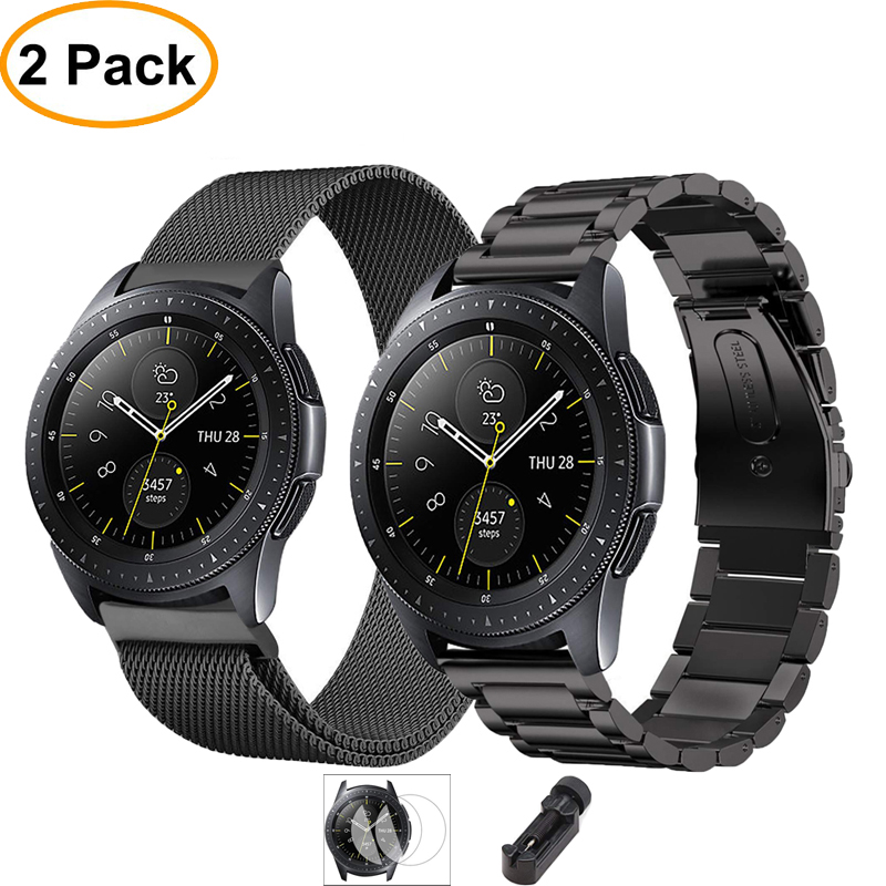 Film+tool+watch Band For Samsung Galaxy Watch Active Gear S3 Frontier 46mm 42mm Strap 22mm/20mm Stainless Steel Watchband