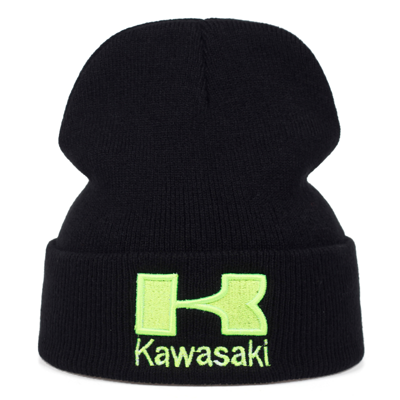 2019 New Kawasaki Embroidery Headgear Hats Fashion Outdoor Sports And Leisure Hats Hip Hop Wool Caps Couple Universal Cap