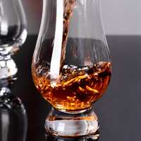 6 Pcs/Lot 175ML Whiskey Glass Shaped Crystal Clear Glassware for Wine Bar Club Party Gifts
